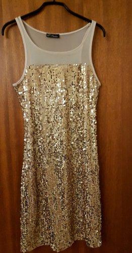 Vestido de lentejuelas color oro