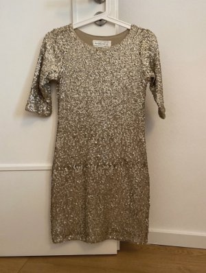 Abercrombie & Fitch Sequin Dress gold-colored