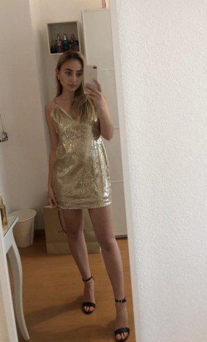 Goldenes Paillettenkleid von Shein