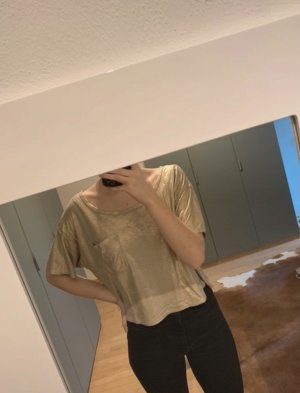Hollister Cropped Shirt gold-colored