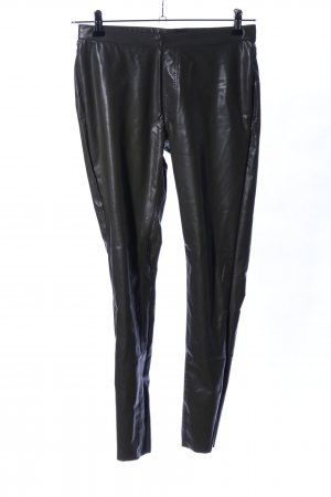 goldenpoint Lederhose schwarz Glanz-Optik