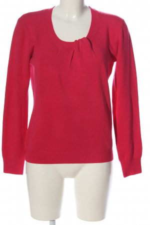 goldens Strickpullover rot Casual-Look