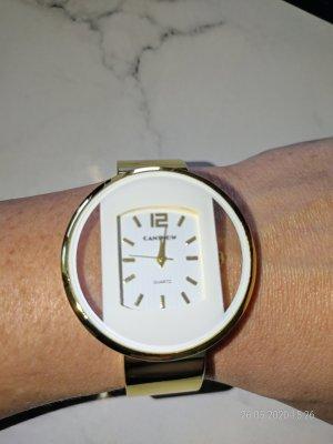 goldfarbende Armbanduhr