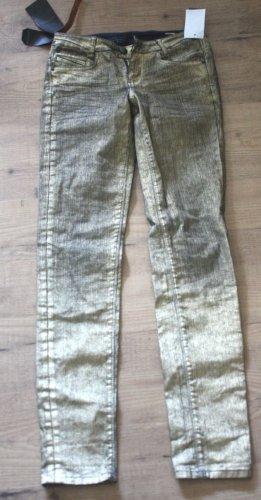 bonobo jeans Slim Jeans gold-colored cotton