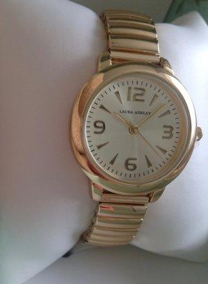 Laura Ashley Montre avec bracelet métallique doré