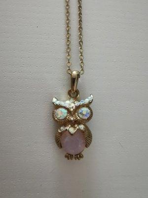 Goldfarbene Halskette mit Eule