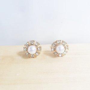 Boucles d'oreille en or blanc-doré