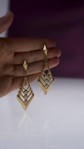 Goldfarbene True Vintage-Ohrringe