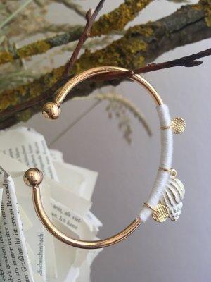 Bangle gold-colored-natural white