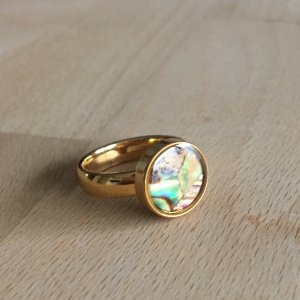 Gold Ring gold-colored-cadet blue