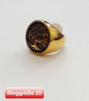 SmD Zdobiony pierścionek złoto