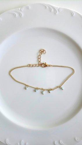 Bransoletka złoto-jasnoniebieski