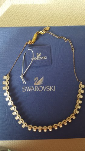 goldfarbenes Swarovski Collier