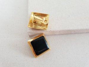 Retro Ohrclips Orecchino a clip nero-oro