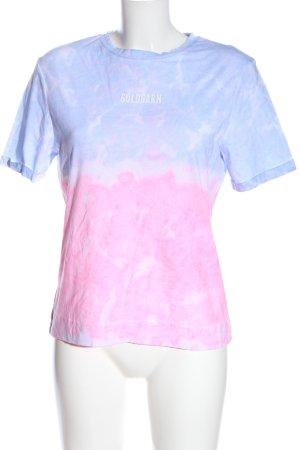 Goldgarn Batik shirt roze-blauw kleurverloop casual uitstraling
