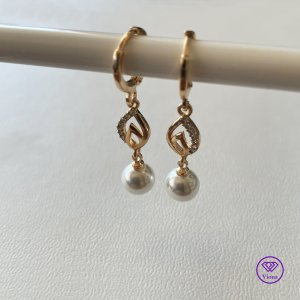 Viona Pearl Earring gold-colored-white