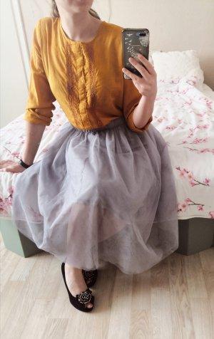 Zara Basic Linen Blouse gold orange-light orange