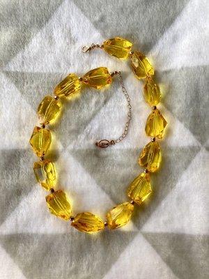 Stradivarius Collier de perles orange doré-jaune