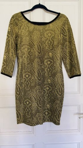 Goldglitzer Paisley Vintage Kleid