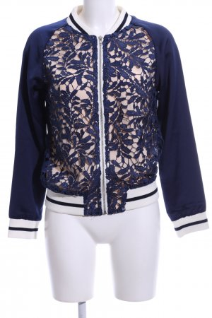 Goldie Bomber Jacket blue-natural white striped pattern casual look