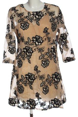 Goldie Abito a sottoveste crema-nero motivo floreale stile casual