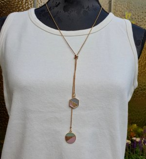 Boutique Ware Necklace gold-colored-light pink