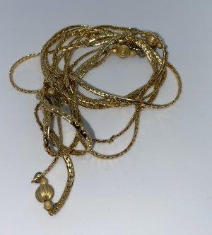 Goldkette - Federleicht - interessanter Hingucker - Sieht aus, wie aus den 70zigern !!