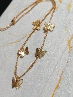 Goldkette mit Schmetterlingen