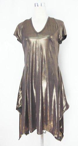 Goldkleid Gr. S goldenes Kleid Jerseykleid Zipfelkleid