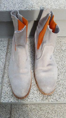 Goldmud Botines Chelsea gris claro-naranja Cuero
