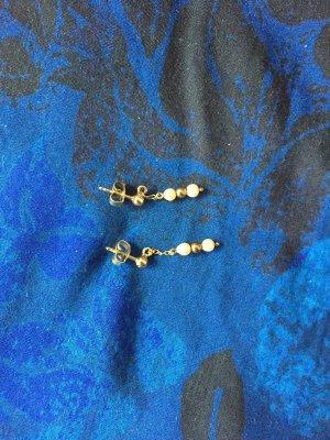 Pendientes de oro color oro-blanco