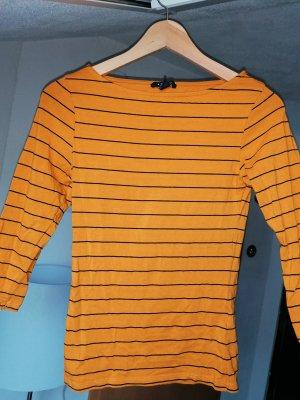 Amisu Short Sleeve Sweater black-gold orange