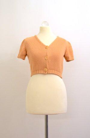 Short Sleeve Knitted Jacket gold orange