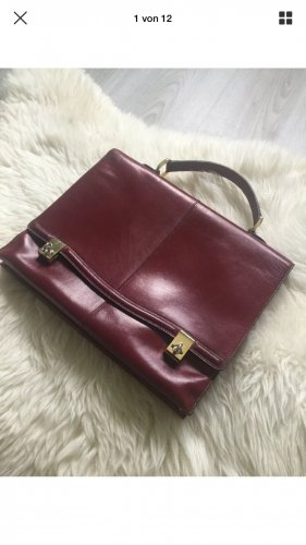 Goldpfeil Briefcase bordeaux
