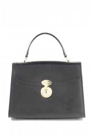Goldpfeil Henkeltasche schwarz Business-Look