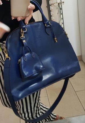Gold Pfeil Sac à main bleu-bleu acier cuir