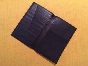 Goldpfeil Portemonnaie/Kartenetui, 100% Leder