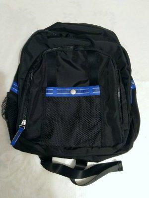 Goldpfeil Rucksack schwarz blau Nylon