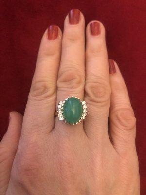 Złoty pierścionek Wielokolorowy