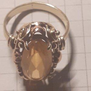 RW&CO. Złoty pierścionek złoto-limonkowy żółty