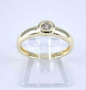Goldring Brillantring Verlobungsring Diamant