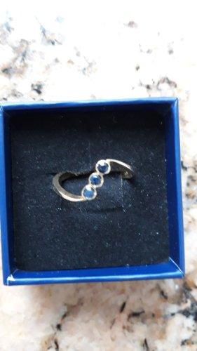 Juwelier Gouden ring goud-blauw