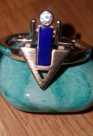 Vom Juwelier Złoty pierścionek złoto-niebieski