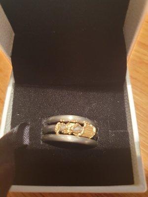 Goldschmiedering 585 Gelbgold/ Steel
