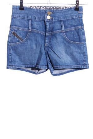 Goldsign High-Waist-Shorts blau Casual-Look