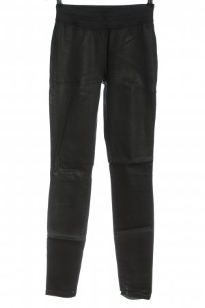 Goldsign Spodnie ze stretchu khaki-czarny Nadruk z motywem W stylu casual