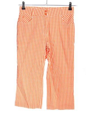 Golfino Pantalone a 3/4 arancione chiaro-bianco sporco stampa integrale