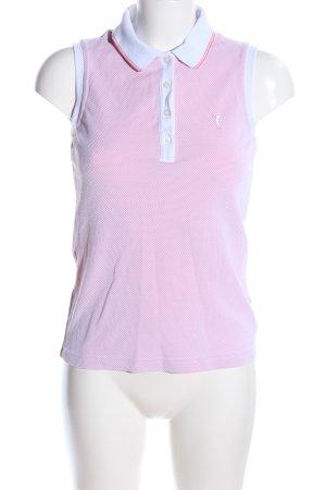 Golfino Feinstrickpullunder pink-weiß meliert Casual-Look