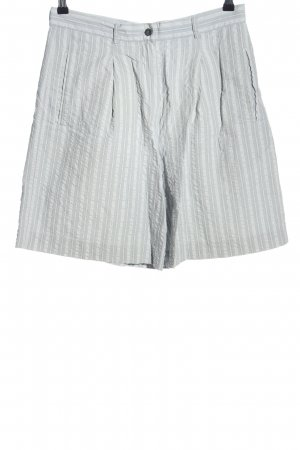 Golfino High-Waist-Shorts light grey striped pattern casual look