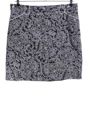 Golfino Falda pantalón negro-blanco estampado con diseño abstracto